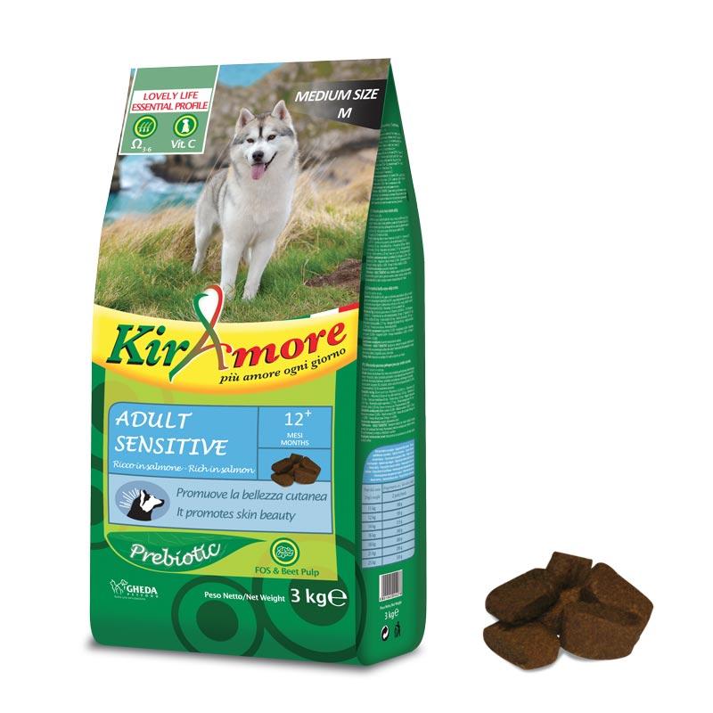 Гипоаллергенный корм для собак из рыбы KirAmore Sensitive 15кг Кишинев