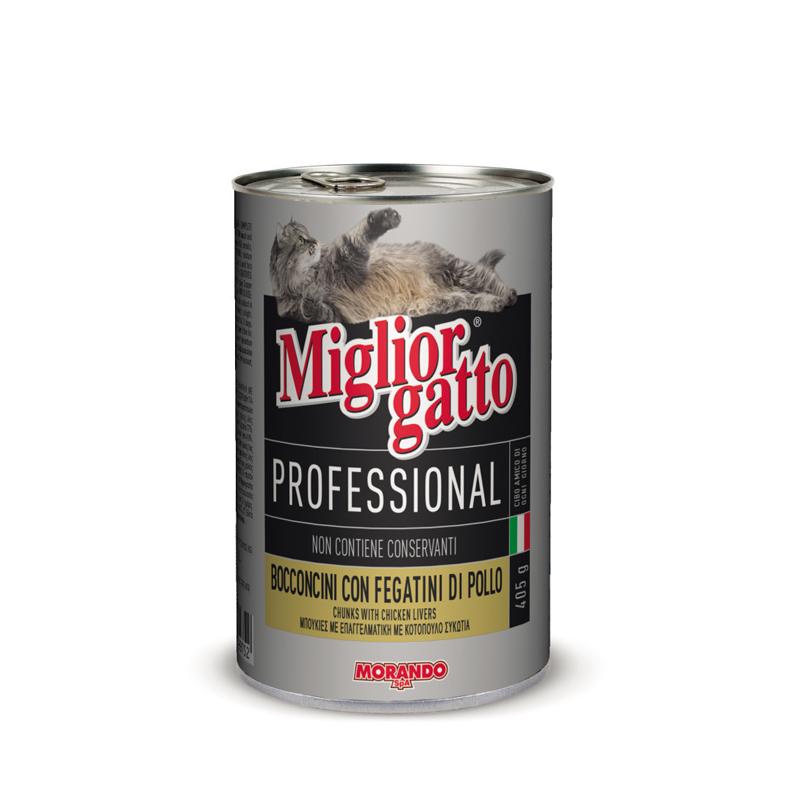 Куриная печень для кошек Miglior Gatto Professional Fegatini di Pollo 405г Кишинев