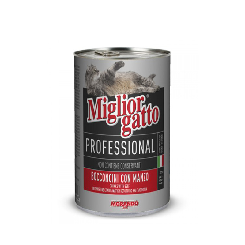 Кусочки говядины в желе для кошек Miglior Gatto Manzo 405г Кишинев