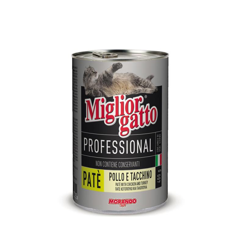 Паштет из курицы и индейки для кошек Miglior Gatto Pate Pollo 405г Кишинев