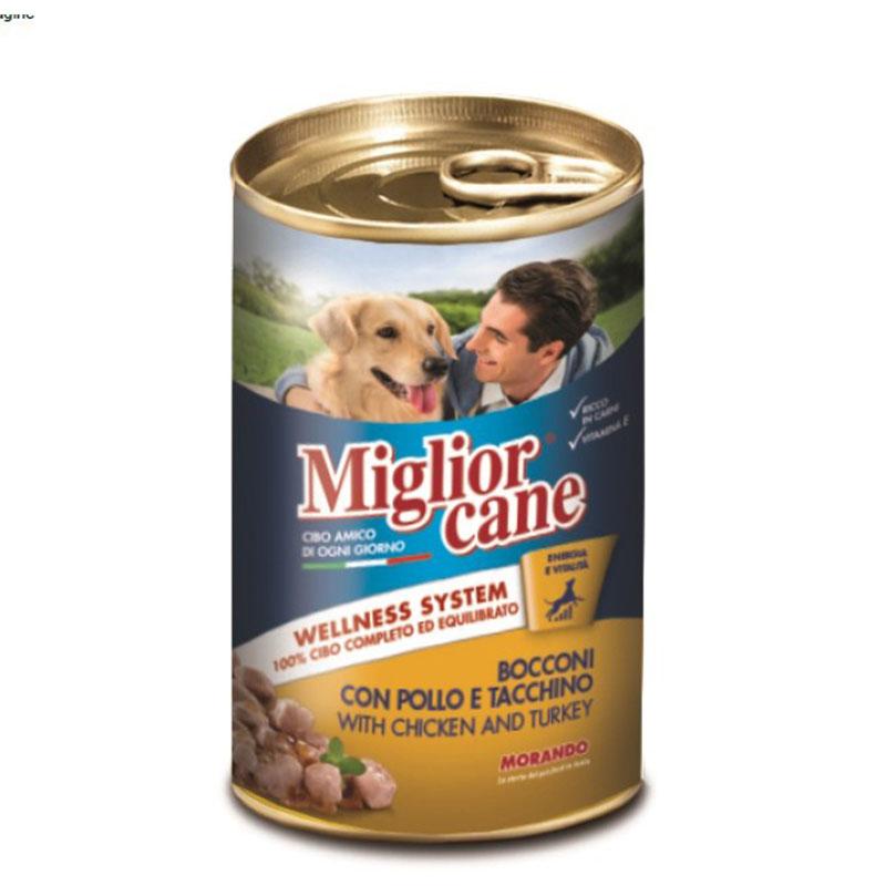 Кусочки из курицы и индейки для собак Miglior Cane Pollo 405г Кишинев