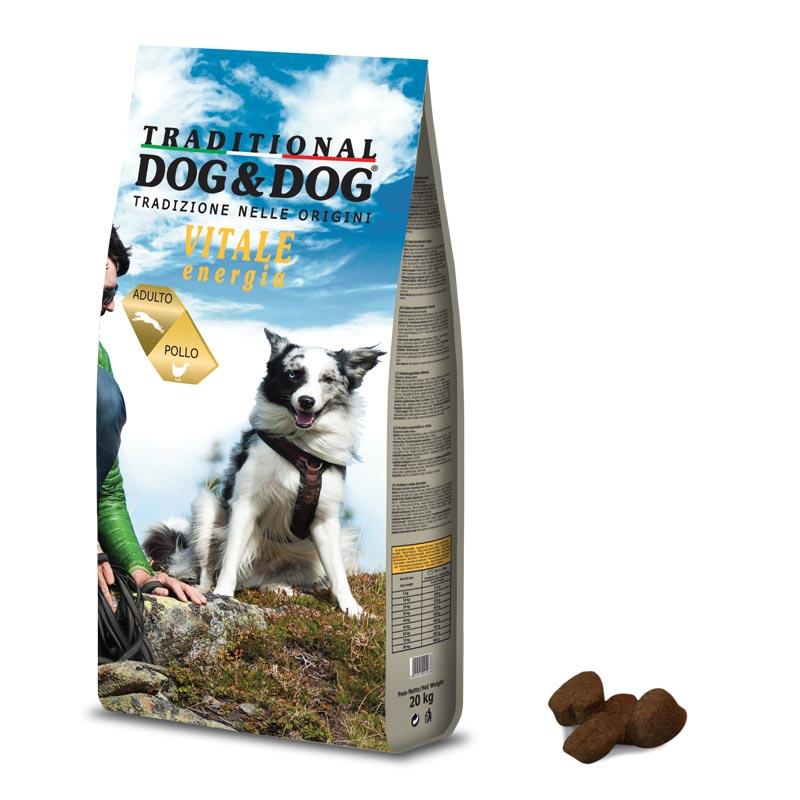 Сухой корм для активных собак Dog&Dog Vitale Energia 20кг Кишинев