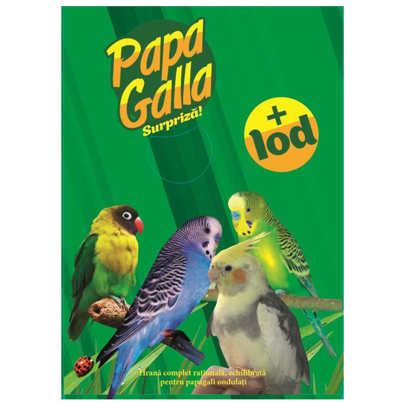 Полнорационный сухой корм для волнистых попугаев - PapaGalla 500г Кишинев