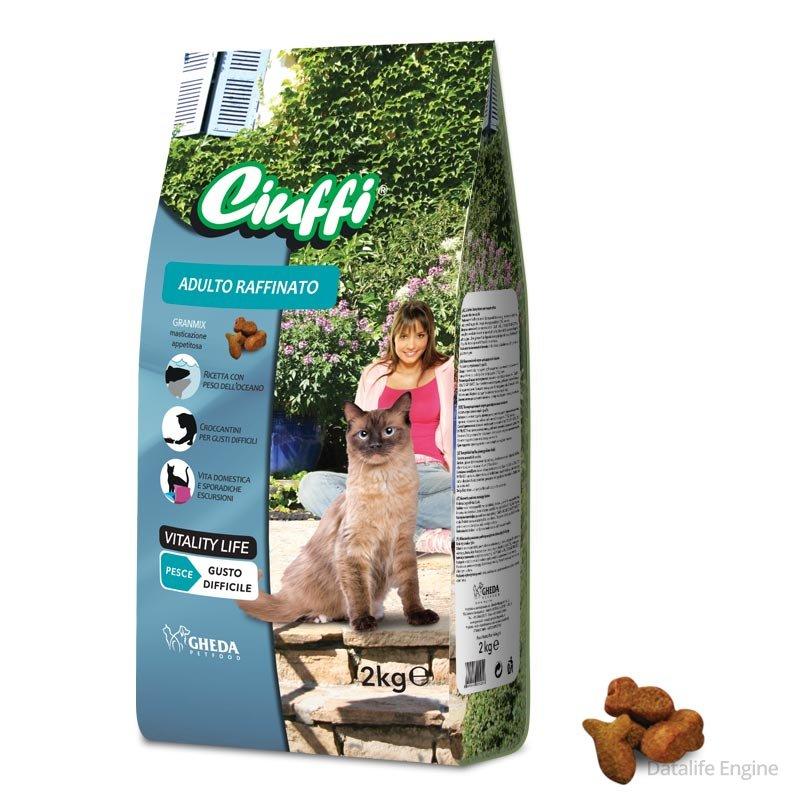 Сухой корм из рыбы для активных кошек Ciuffi Adult  Feline Raffinato 2кг Кишинев