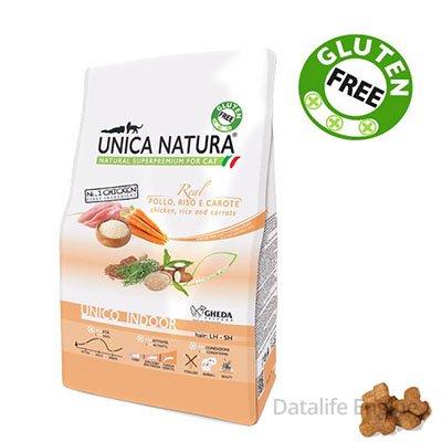 Суперпремиум корм для кошек (без глютена) Unica Natura Indoor 1,5кг Кишинев