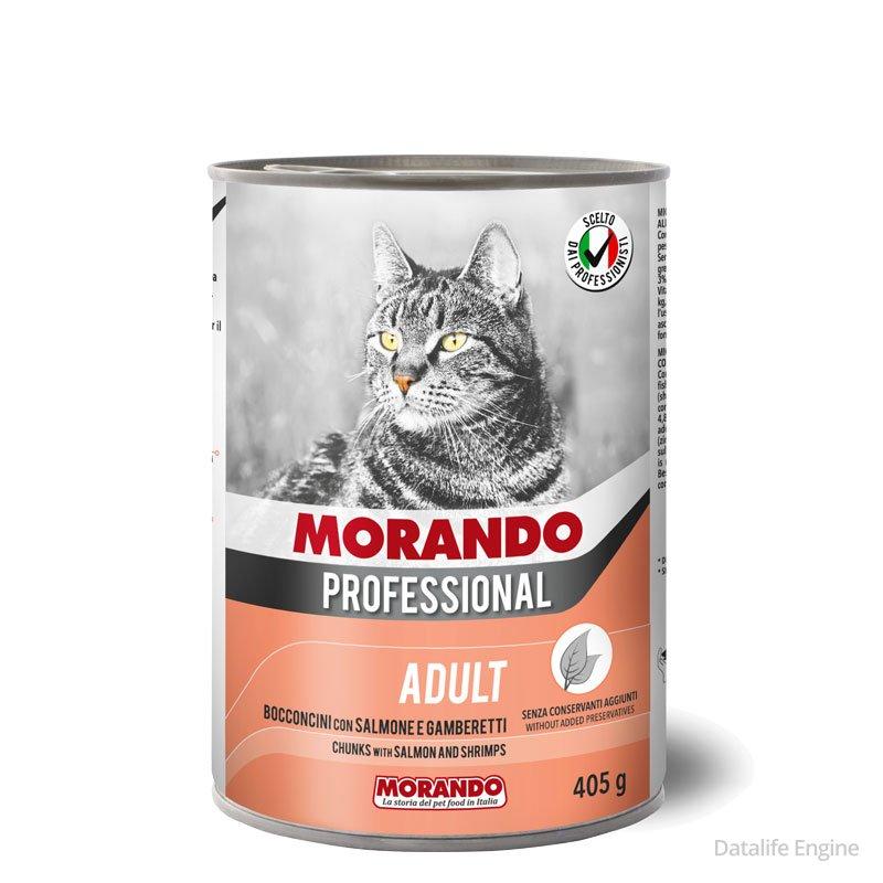 Кусочки лосося и креветок для кошек Miglior Gatto Salmone 405г Кишинев