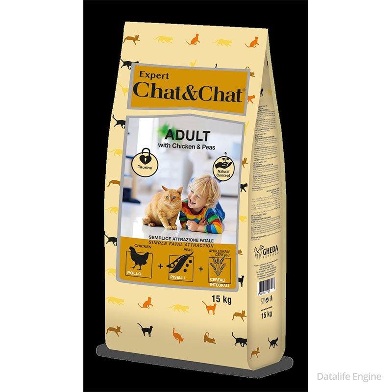 Сухой корм для  кошек EXPERT CHAT&CHAT Chicken and Peas 15 kg Кишинев