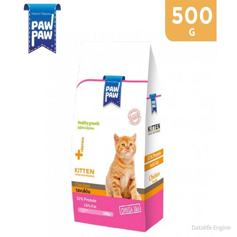 Сухой корм для котят Paw Paw Kitten 15 кг с Kурицей Кишинев