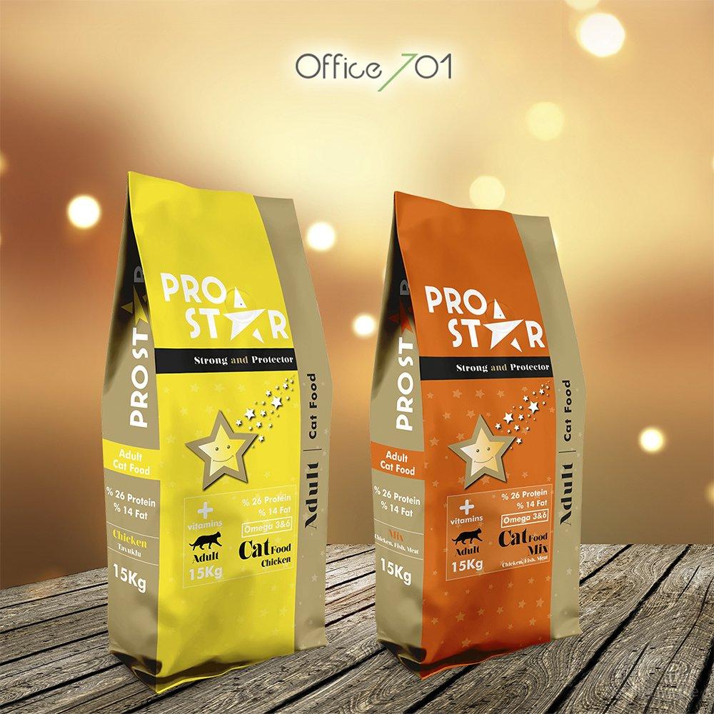 Сухой корм для взрослых кошек ProStar 15кг с рыбой, курицей и говядиной Кишинев