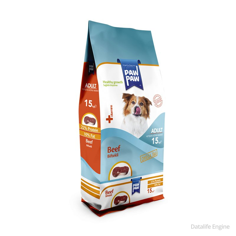 Сухой корм для собак из говядины Paw Paw Beef 15кг Кишинев